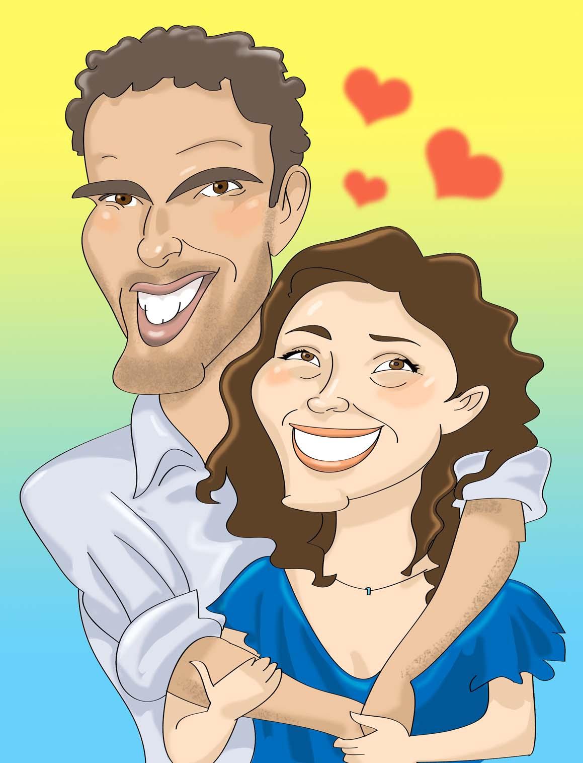 CARICATURAS ,CARICATURISTAS y EVENTOS: Caricatura para pareja de ...