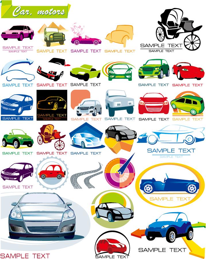 お洒落な自動車アイコン graphics on the car icon vector イラスト素材