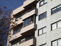 14-N gente en balcones, Gran Vía Vigo