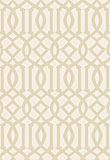 Schumacher Imperial Trellis Ivory / Sand  5005802