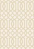 Schumacher Imperial Trellis Ivory / Sand  5005802