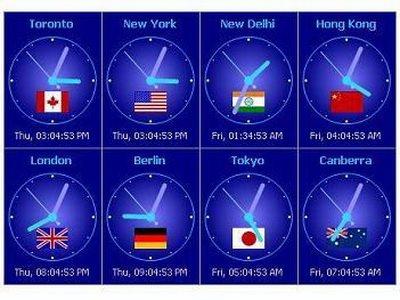 sharp world clock free