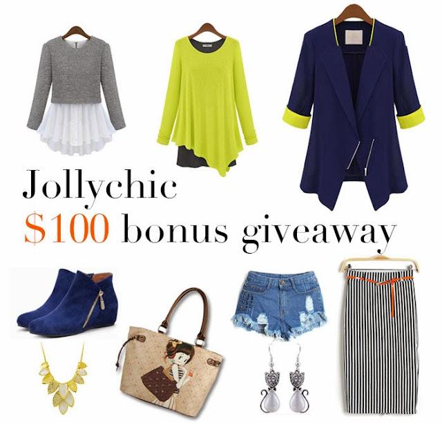 Jollychic $100 bonus Giveaway