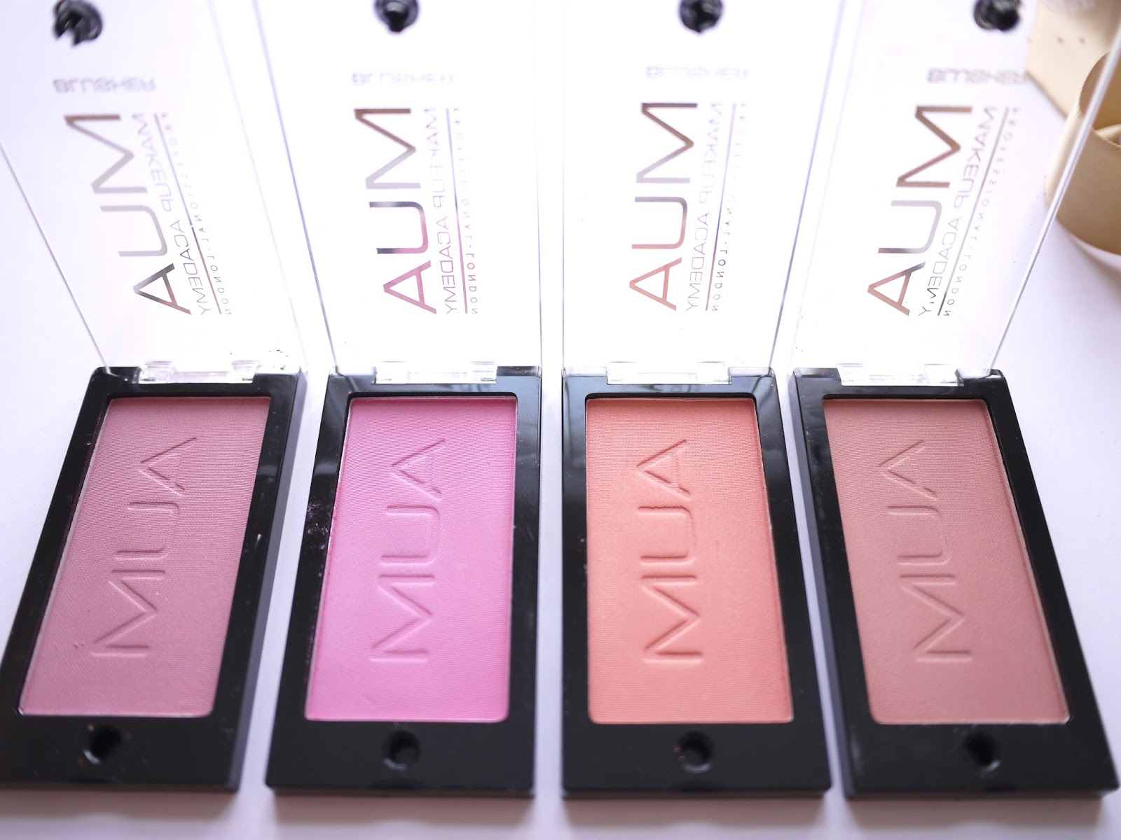 mua blush swatches and review candyfloss marshmallow lolly cupcake
