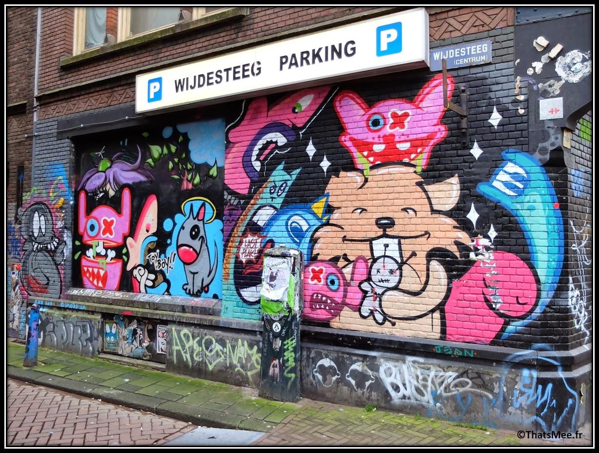 Street Art Wijdesteeg Parking Amsterdam Spuistraat