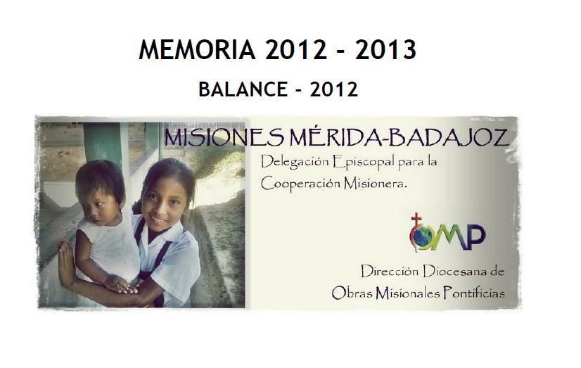Memoria y Balance 2012-13