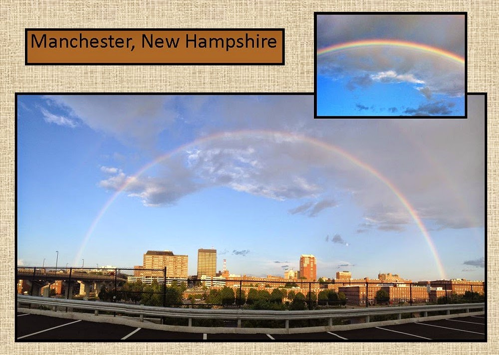 Rainbow over Manchester, New Hampshire