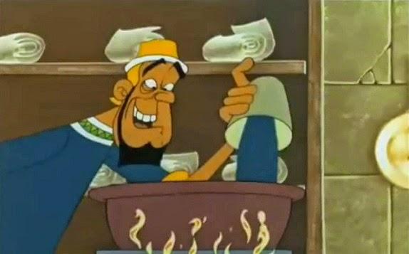 asterix cleopatra gateau envenenado poisonous song Artifis paletabis pastel al arsénico
