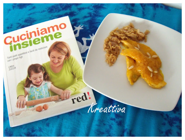 Scaloppine all'arancia con pinoli