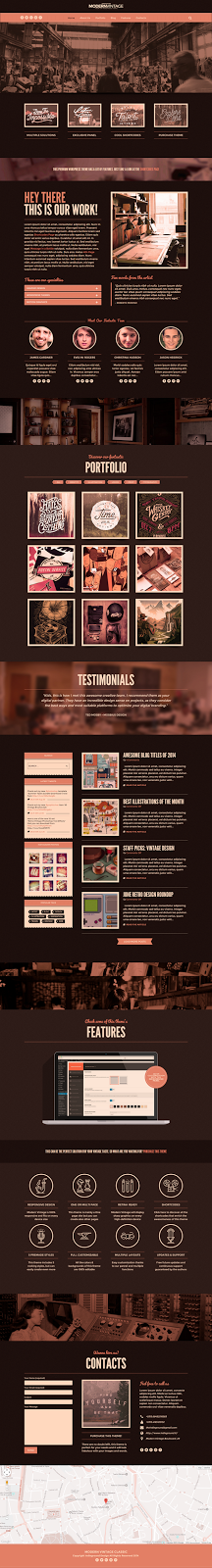 Premium Vintage Style Website Theme