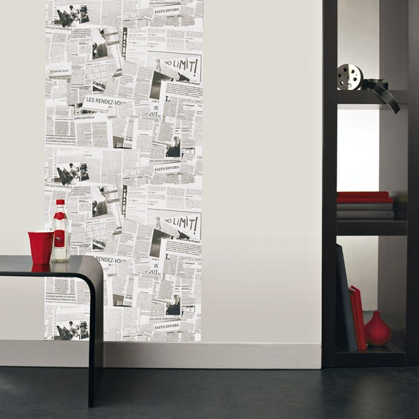 Papel pintado papel pintado caselio for Papel pintado periodico