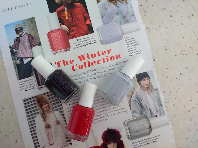 Essie Winter 2015 Virgin Snow Collection, 3 shades Haute Tub, Shall We Chalet? and Virgin Snow