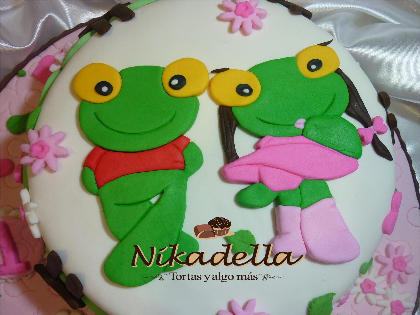 Torta Sapa Pepa y Sapo Pepe 1º añito Julia