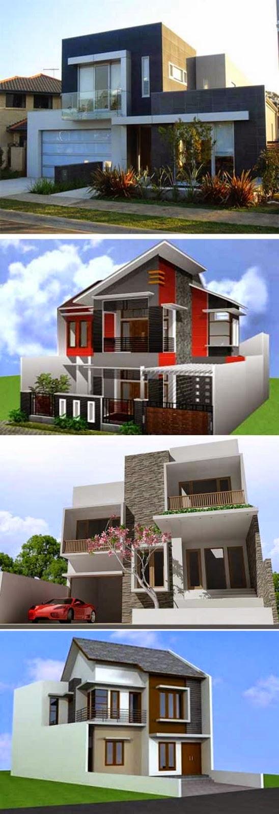 desain rumah modern 2 lantai tampak dari depan