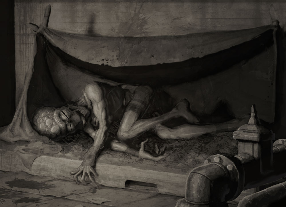 DSG 1612: Fantasy/Creature • THE PITIFUL THING THAT LAY SLOWLY DYING IN ITS HOVEL