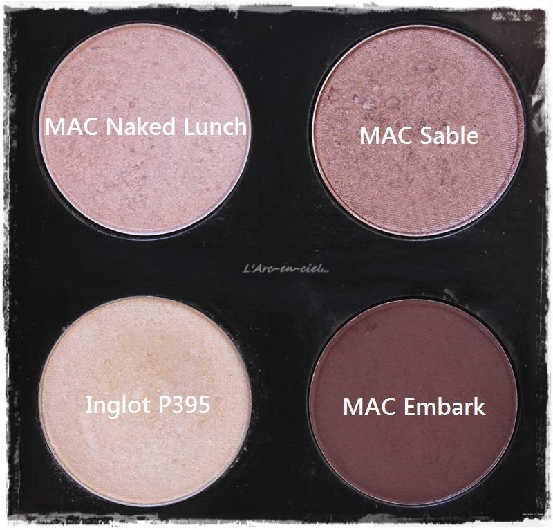 MAC Eyeshadows/Farlar: Sable ve Naked Lunch / LArc-en-ciel