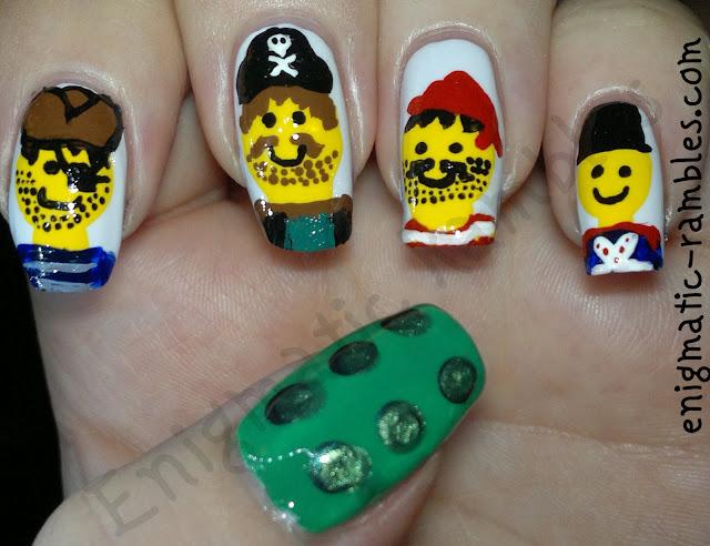 freehand-lego-legos-nail-nails-art-acrylic-paint-sally-hansen-lavender-cloud