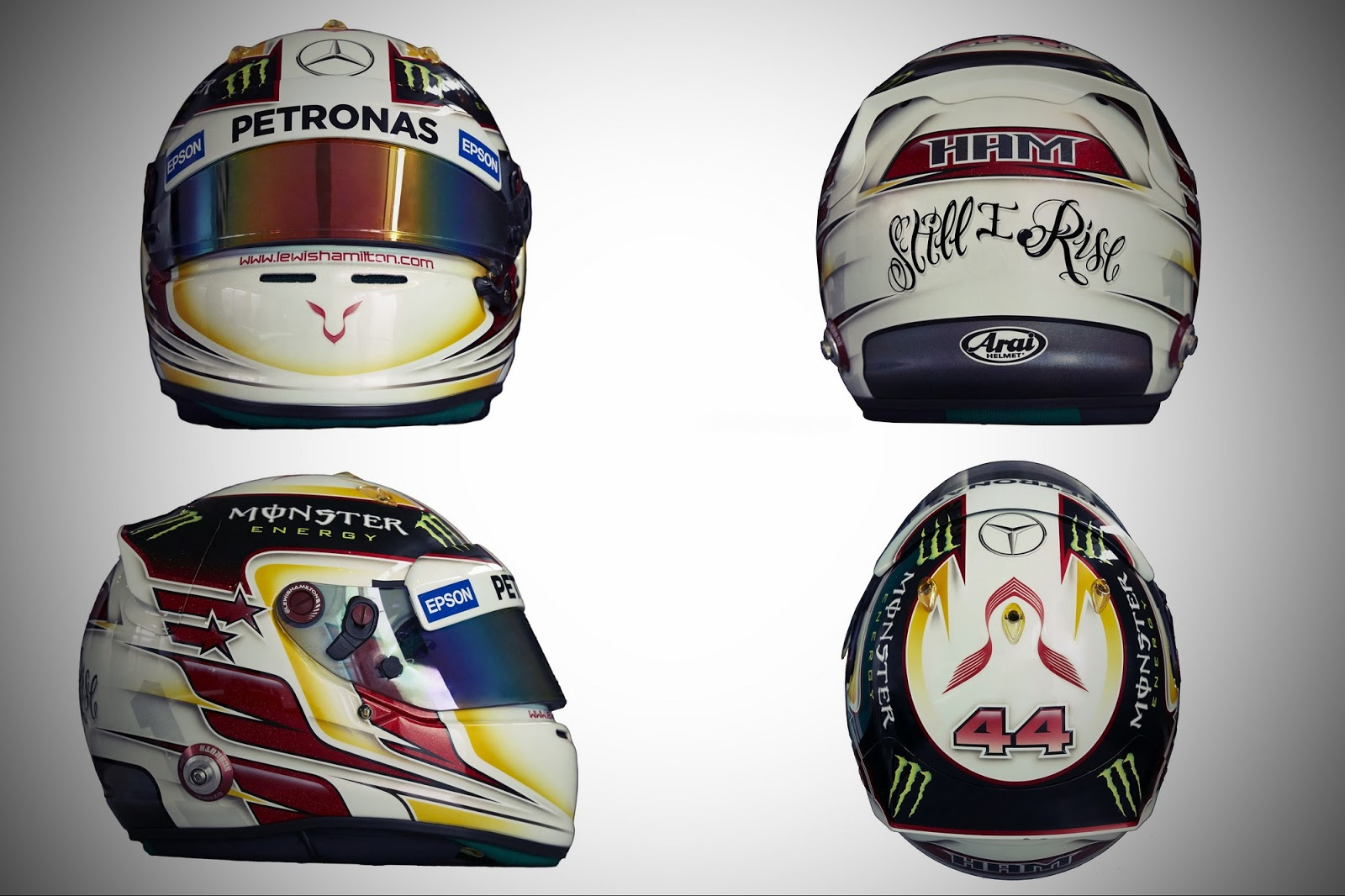 2015 Formula One Helmets used by drivers