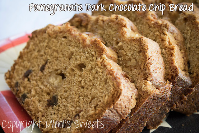 Pomegranate Dark Chocolate Chip Bread