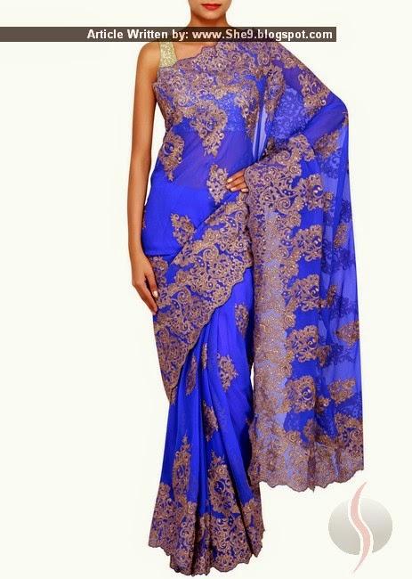 Indian Chiffon Saree Pictures