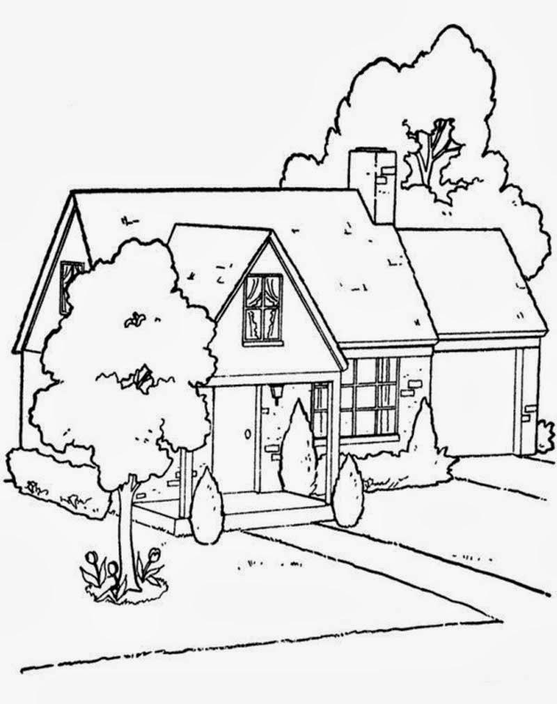 Kumpulan Gambar Mewarnai Lingkungan Rumah