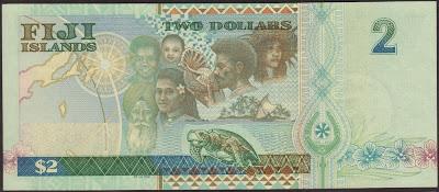 Fiji 2 Dollar 2000 P# 102