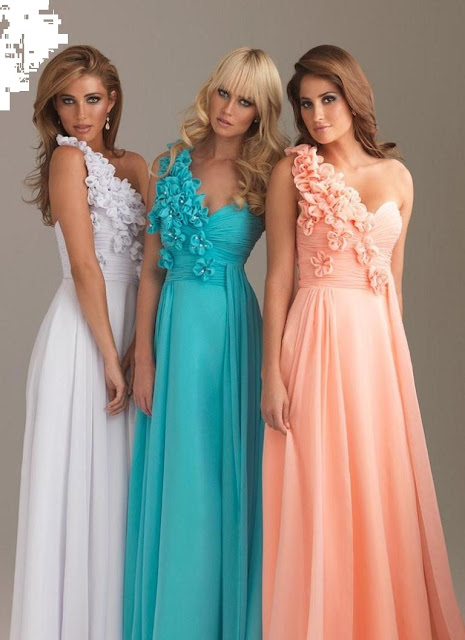 One shoulder prom dresses