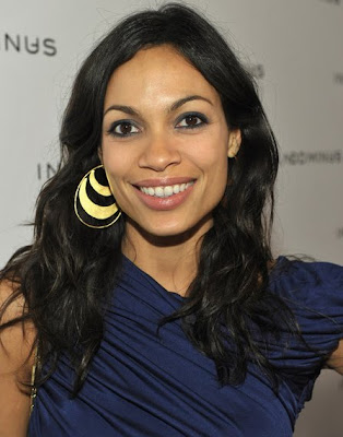 Rosario Dawson Gold Dangle Earrings
