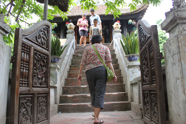 Little Steps heading up to One Pillar Pagoda in Hanoi, Vietnam