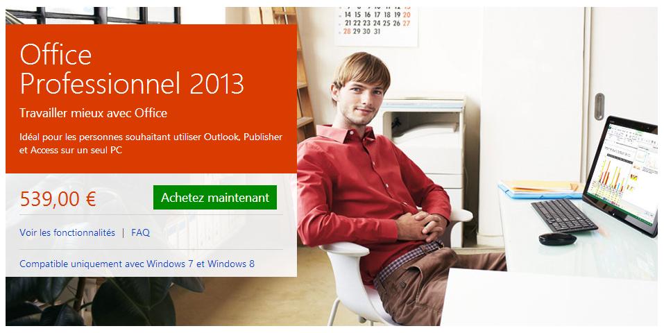 Microsoft office professional plus 2013 fr avec - Office professional plus 2013 gratuit ...