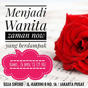 Ibadah Pria Wanita, Kamis 26 April 2018 Jam 19.00