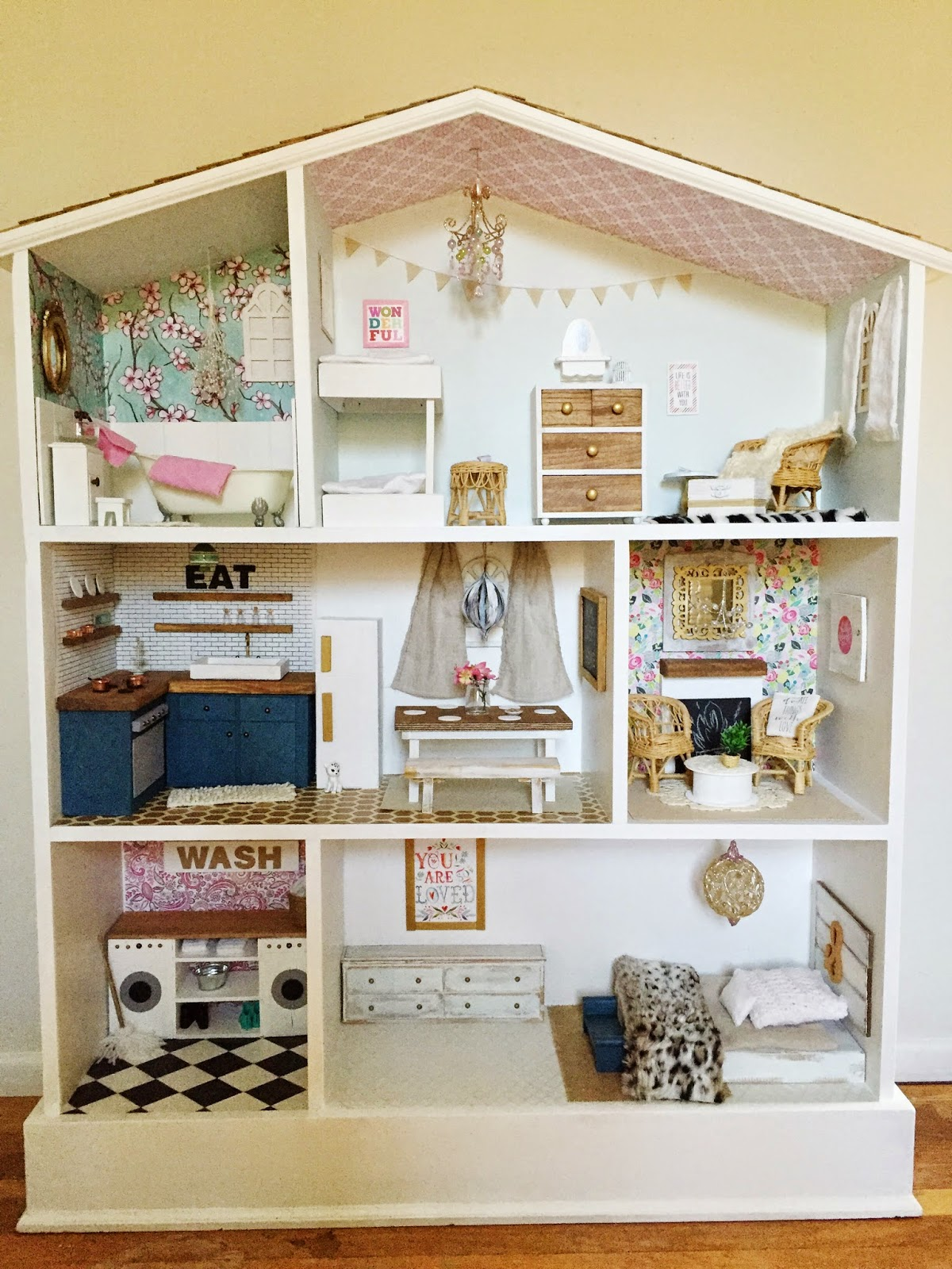 so if youre interested im going to take you on a little tour if youre not into dollhouse renovations you may just want to skip this post barbie doll furniture diy