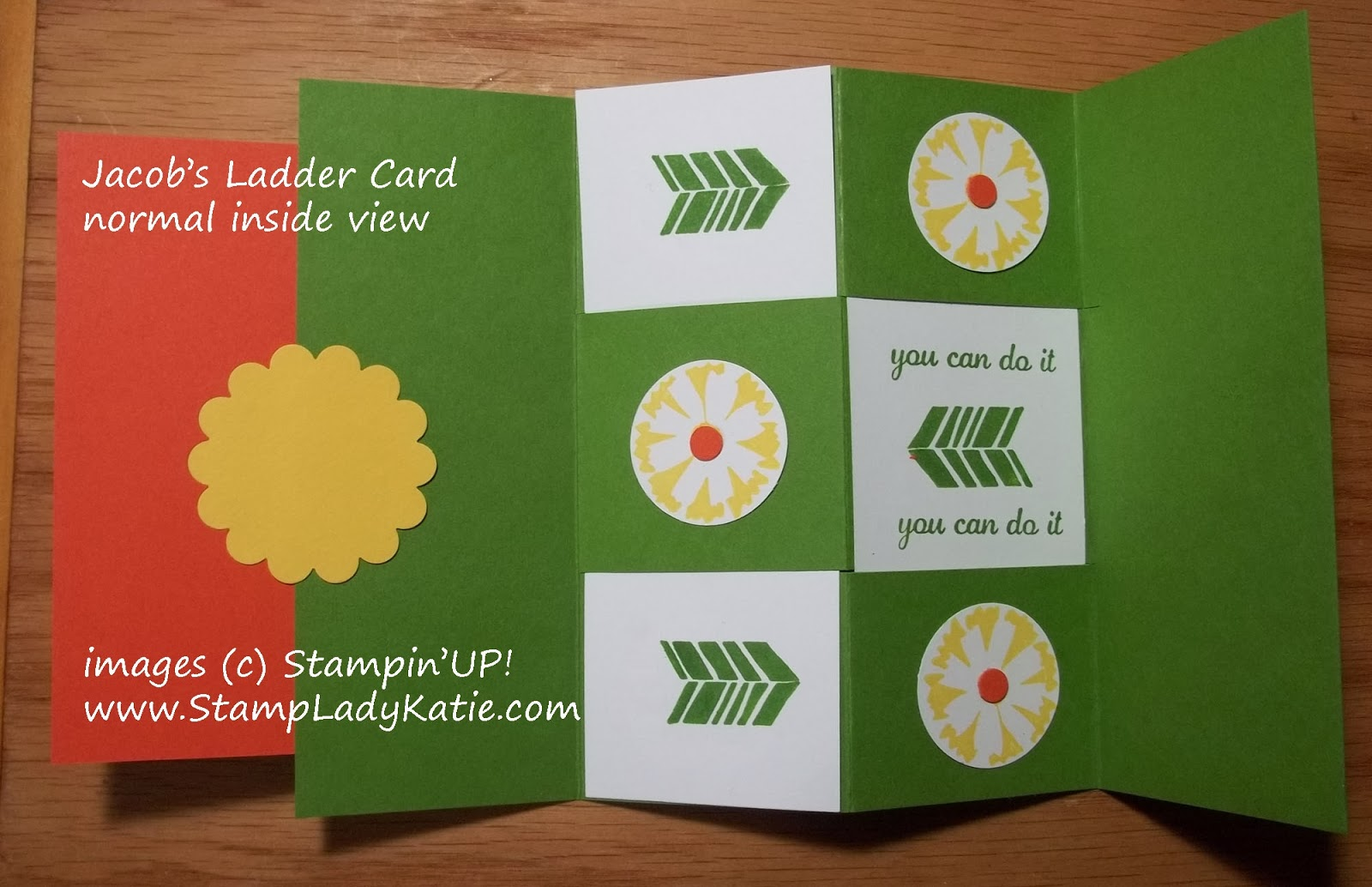 Jacob's Ladder Secret Message Card made with Stampin'UP! Petal Parade Stamp Set