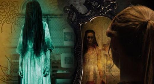 Chải tóc và thấy Ma trong gương