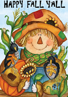 Happy Fall Scarecrown Garden Flag