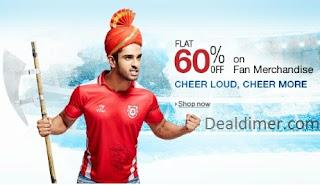 IPL Fan Merchandise minimum 60% off