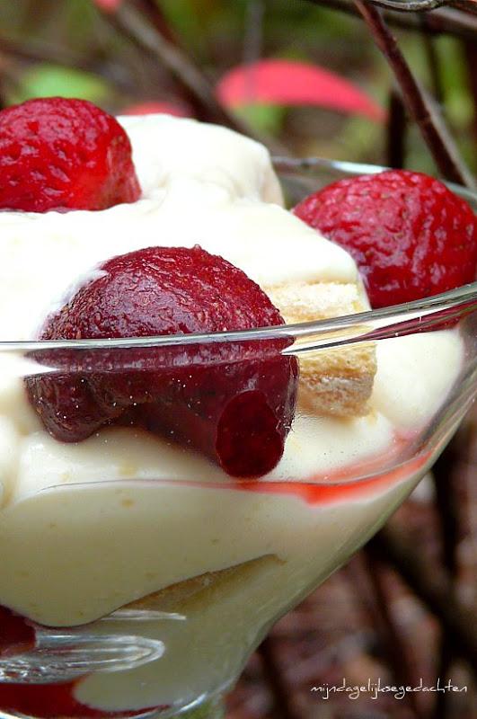 Легкий Клубничный Крем-Десерт