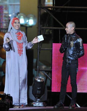 Gambar Afif AF9 dan Salima Semasa Konsert Akhir Reunion