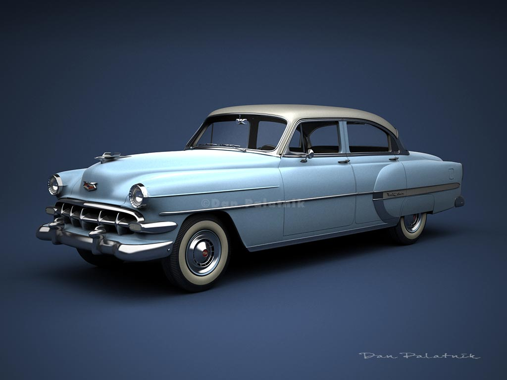 A Garagem Digital De Dan Palatnik The Garage Project 1954 Chevrolet Bel Air 4 Door Sedan Stretched
