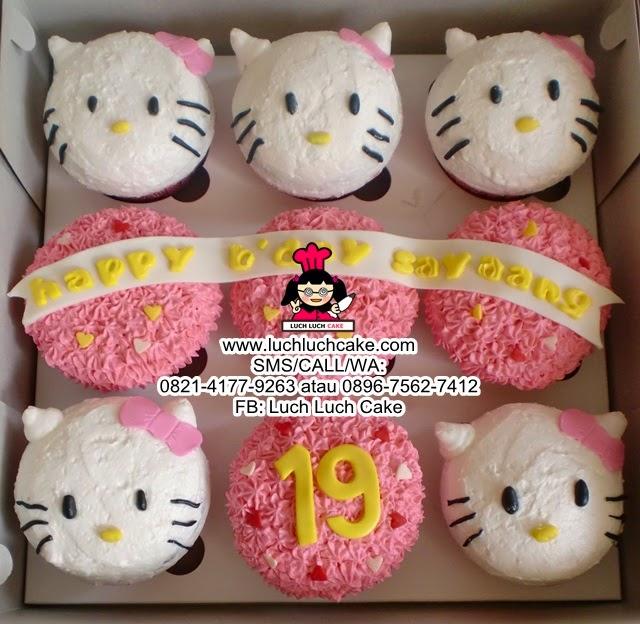 Hello Kitty Buttercream Cupcake Daerah Surabaya - Sidoarjo