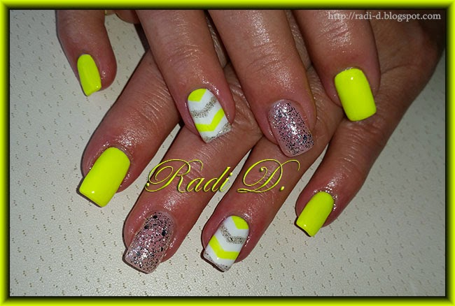 It`s all about nails: Neon Yellow Gel polish