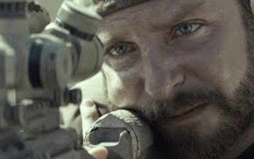 "Screen capture from the movie trailer for ""American Sniper."""