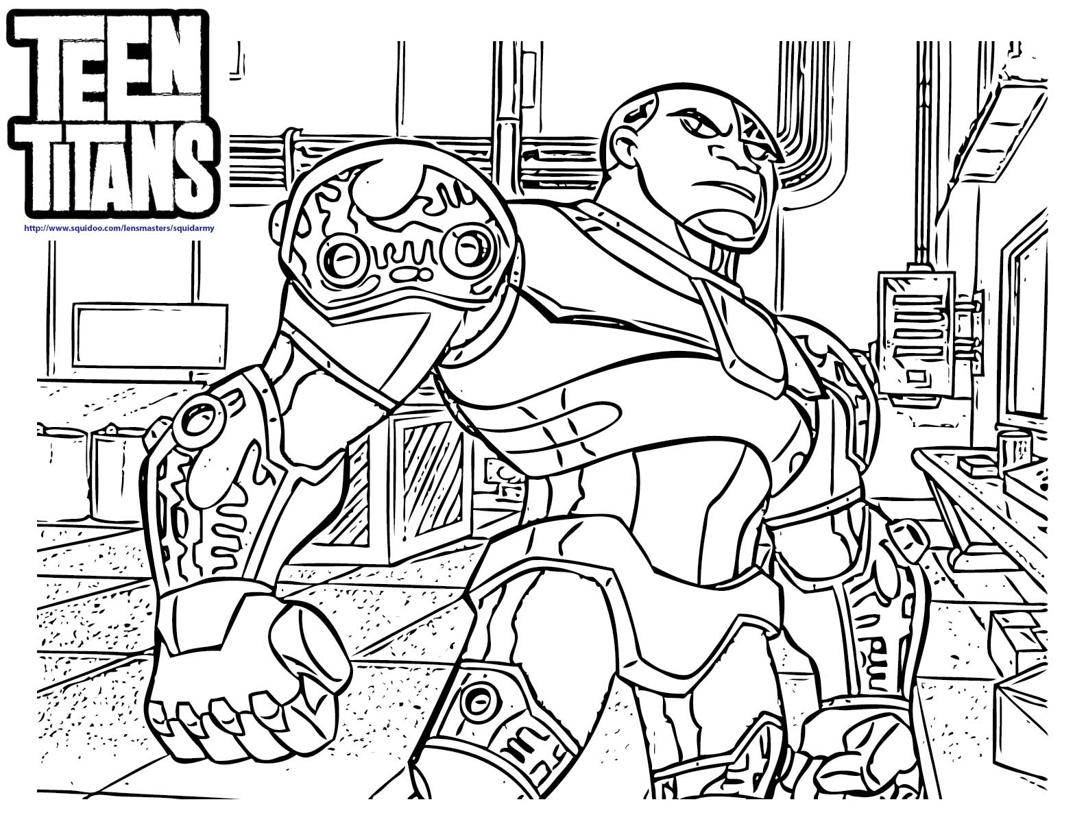 free coloring pages of teen titans go