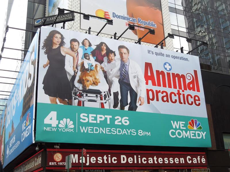 Animal Practice billboard NYC
