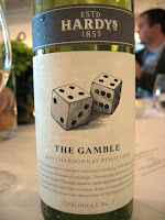 Label photo of Hardys Chronicles 'The Gamble' Chardonnay Pinot Gris 2011