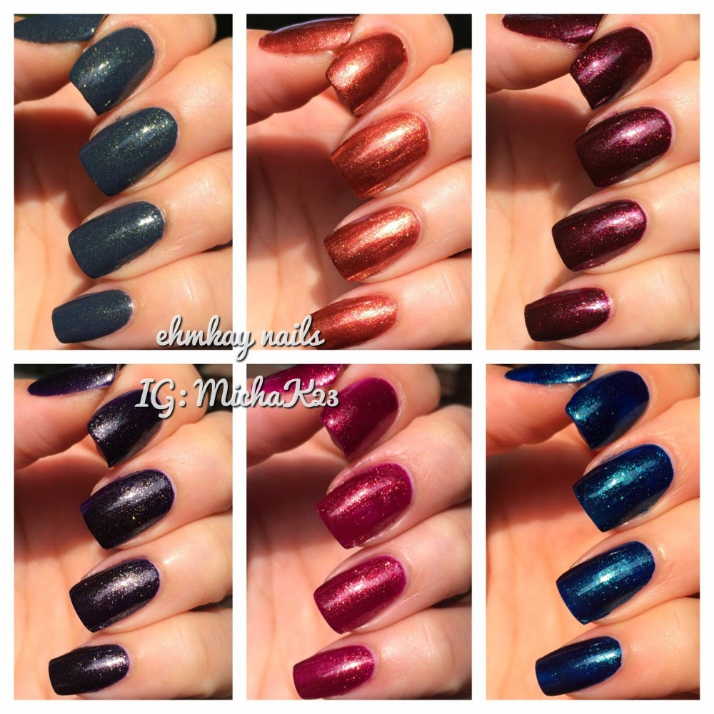 ehmkay nails: Zoya Ignite Collection for Fall 2014: Swatches and Review