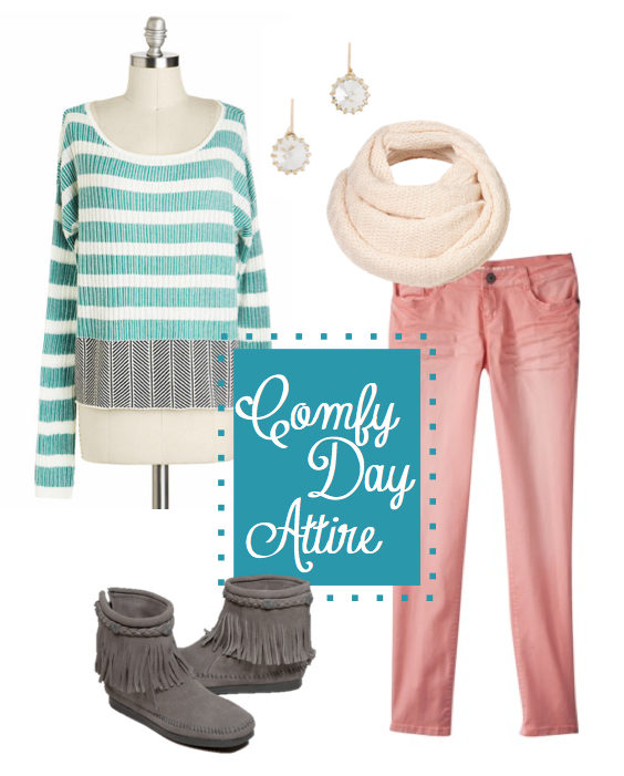 comfortable fashion, pink skinny jeans, moccasins, mom friendly fashion
