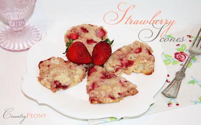 strawberry buttermilk scone