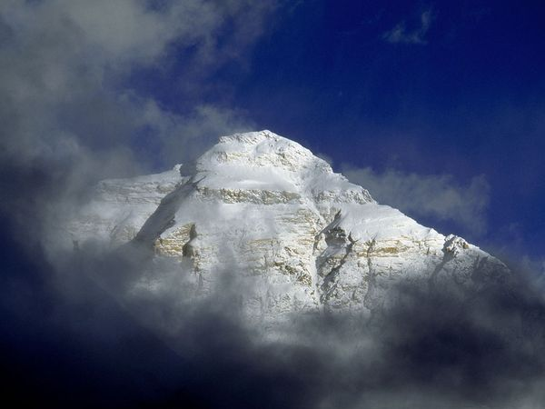 Mount Everest in Clouds