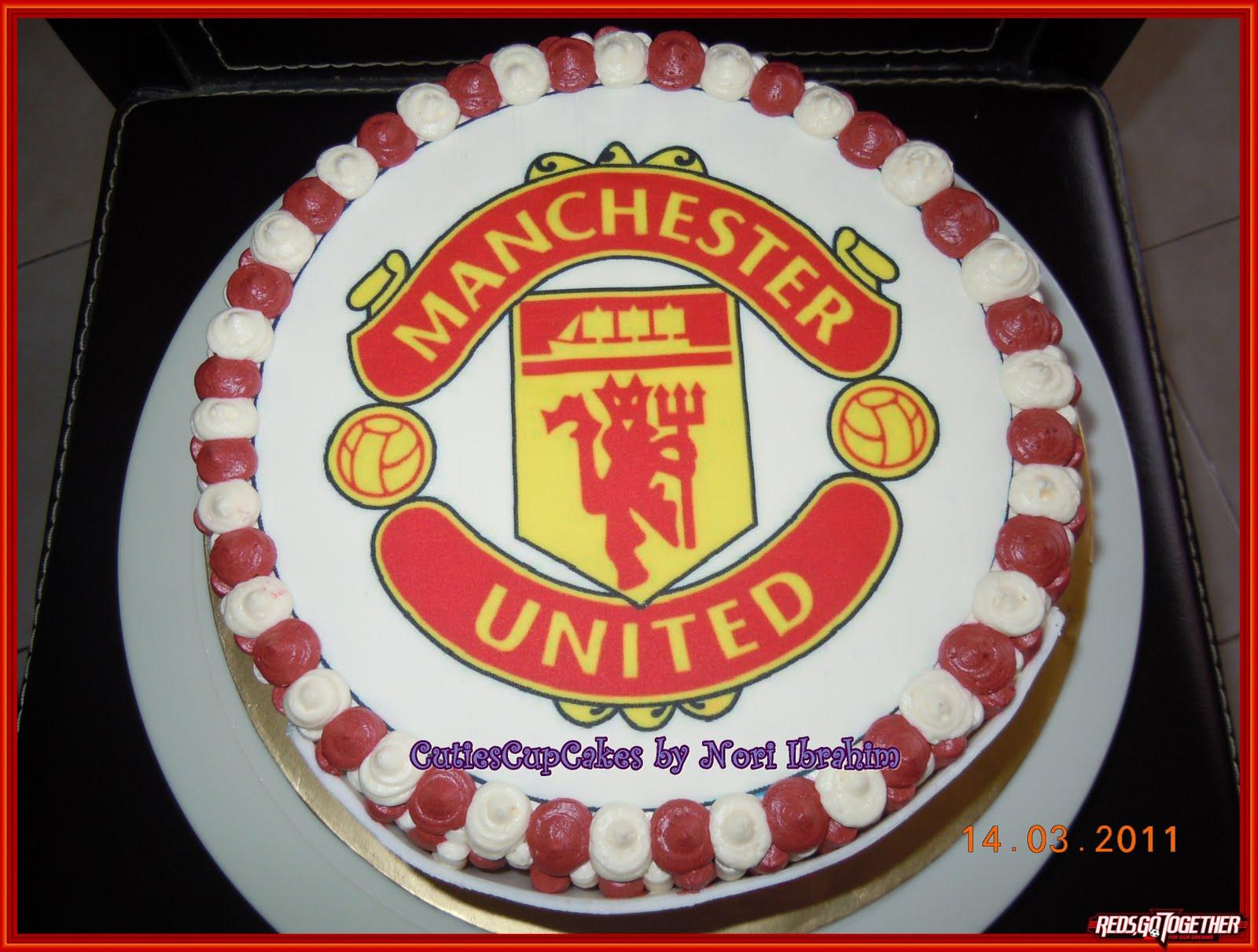 Nori Ibrahim Sweet Touch: MU Birthday cake for Papa.